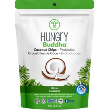 Food & Drink - Hungry Buddha - Classic Coconut Chips + Probiotics, 80g