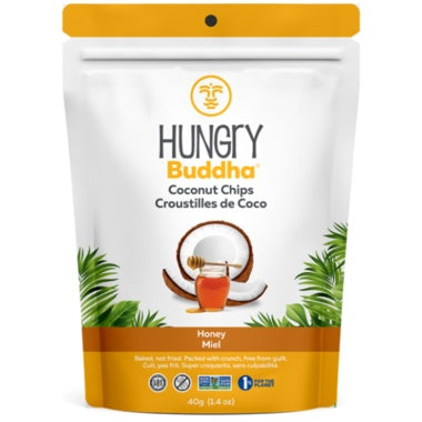 Food & Drink - Hungry Buddha - Heavenly Honey Coconut Chips, 40g