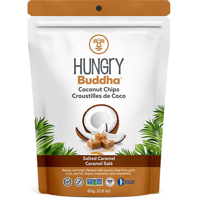 Food & Drink - Hungry Buddha - Salted Caramel Coconut Chips, 80g