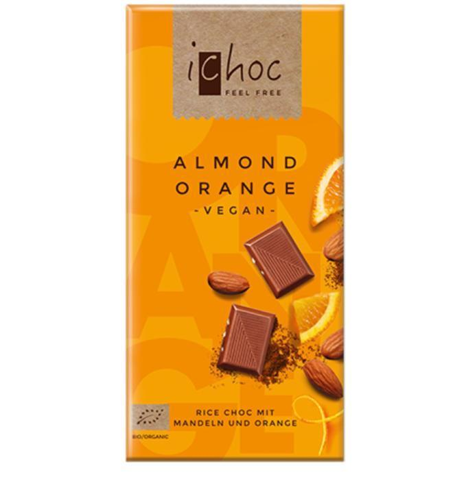 Food & Drink - IChoc - Almond Orange, 80G