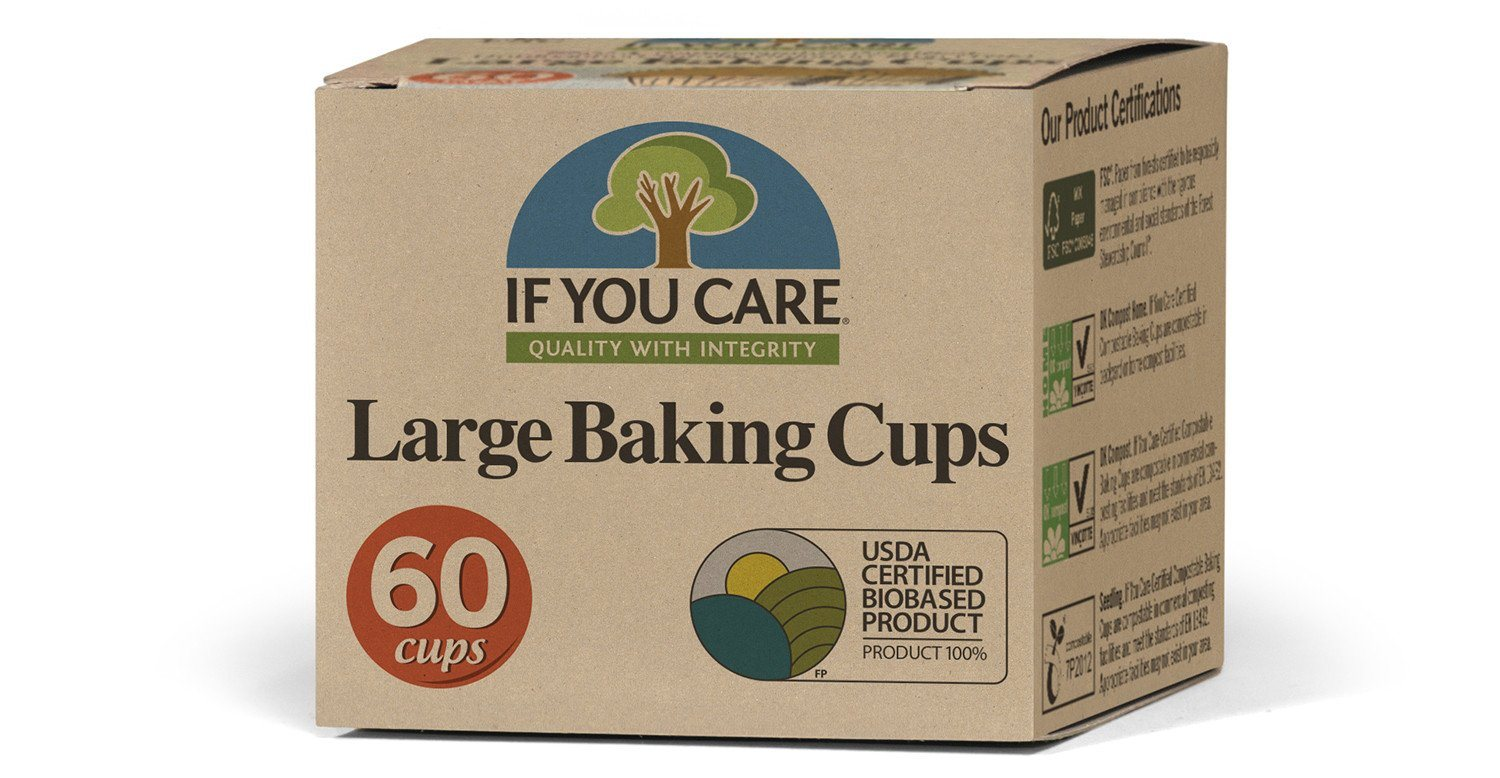 Food & Drink - If You Care - Enviro Friendly - Large Baking Cups, 60 Cups