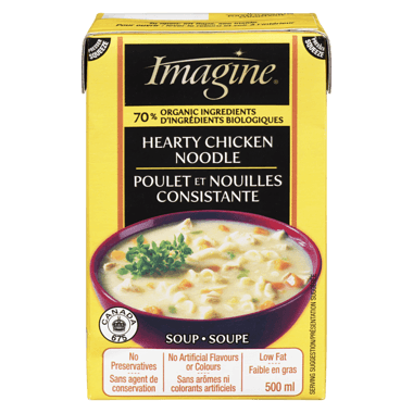 Food & Drink - Imagine Foods - Hearty Chicken Noodle Soup, 500mL