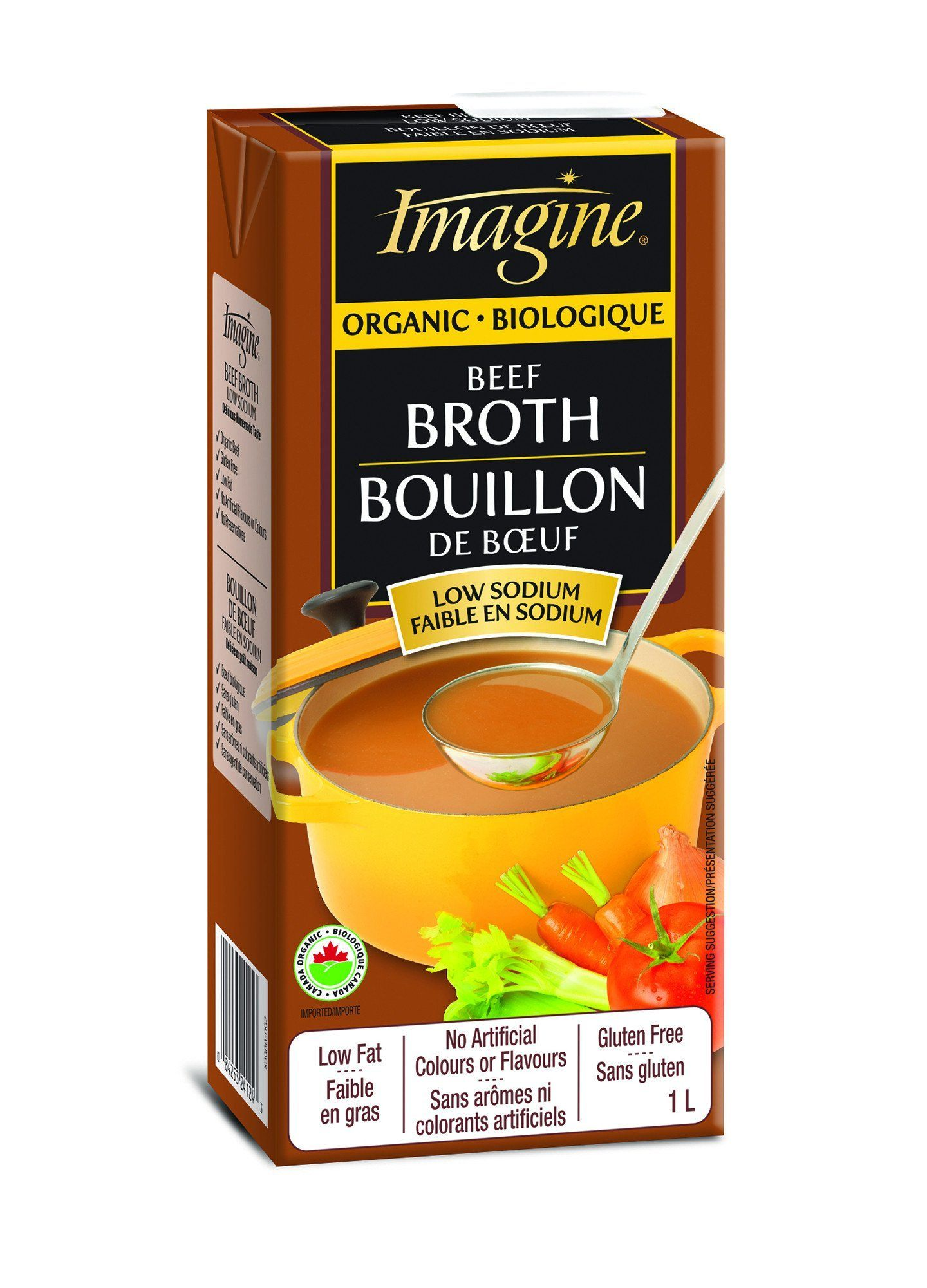 Food & Drink - Imagine Foods - Organic Beef Broth Low Sodium, 1L