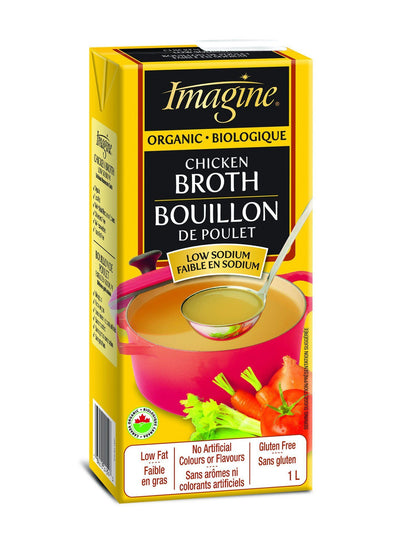 Food & Drink - Imagine Foods - Organic Low Sodium Chicken Broth, 1L