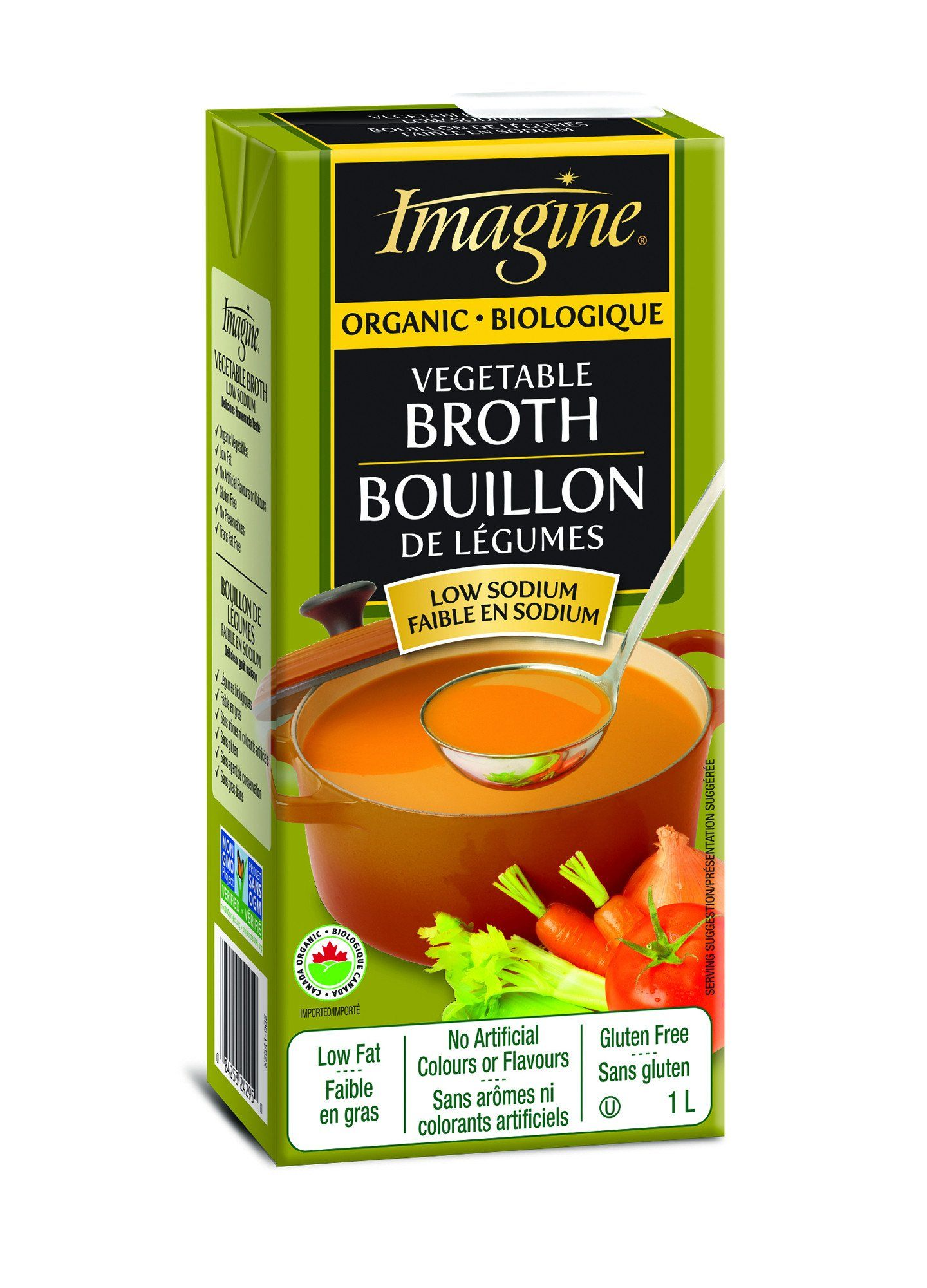Food & Drink - Imagine Foods - Organic Low Sodium Vegetable Broth, 1L