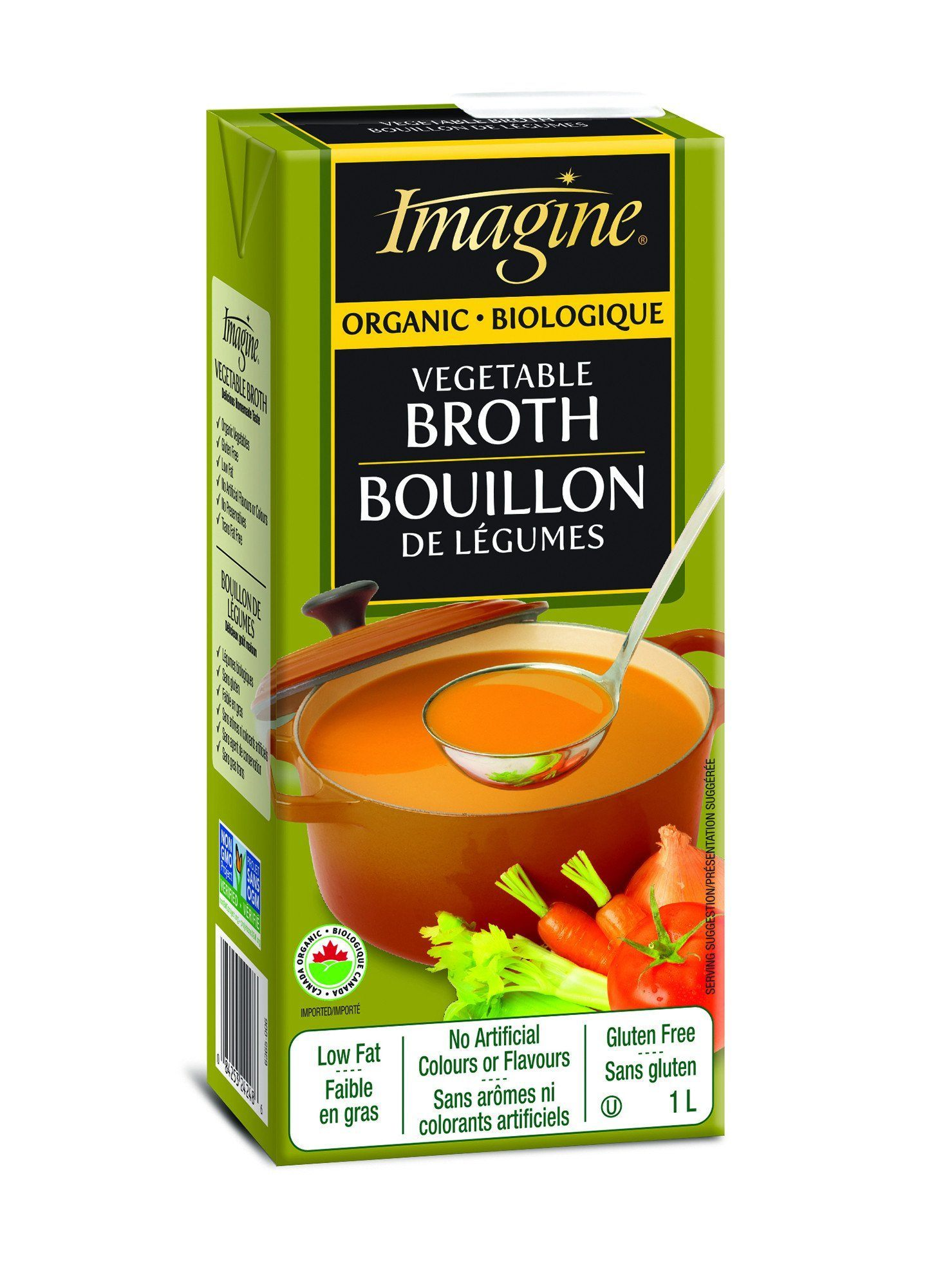 Food & Drink - Imagine Foods - Organic Vegetable Broth, 1L