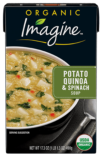 Food & Drink - Imagine Foods - Potato Quinoa & Spinach Soup, 500mL