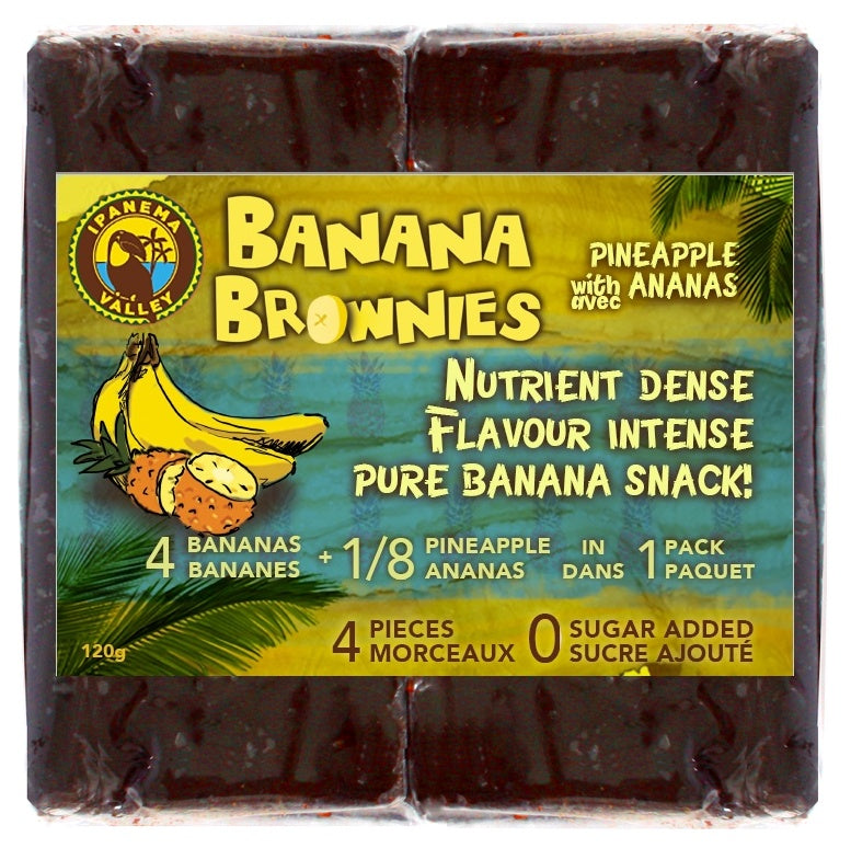 Food & Drink - Ipanema Valley - Pineapple And Banana Brownies, 120g