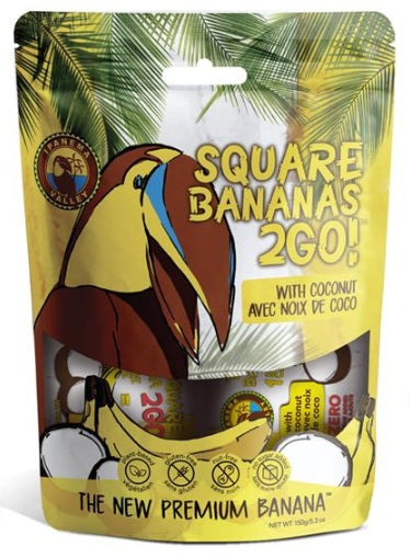 Food & Drink - Ipanema Valley, Square Banana 2Go!, With Coconut, 150g