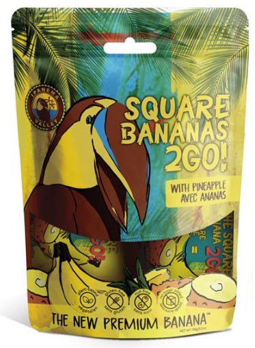 Food & Drink - Ipanema Valley, Square Banana 2Go!, With Pineapple, 150g