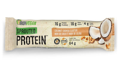 Food & Drink - Iron Vegan - Sprouted Protein Bar, Coconut Cashew Cluster, 64g