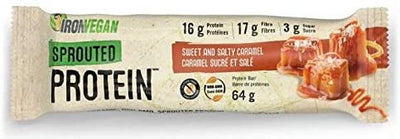 Food & Drink - Iron Vegan - Sprouted Protein Bar, Sweet & Salty Caramel, 64g