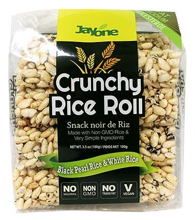 Food & Drink - Jayone Foods - Black Rice Roll Snack, 100G