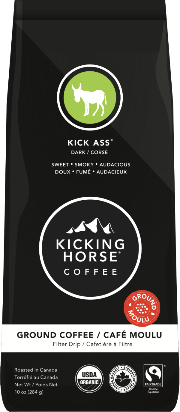 Food & Drink - Kicking Horse - Kick Ass Dark Ground Coffee, 284g