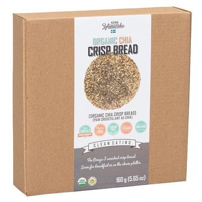 Food & Drink - KZ Clean Eating - Organic Chia Crisp Bread, 200g