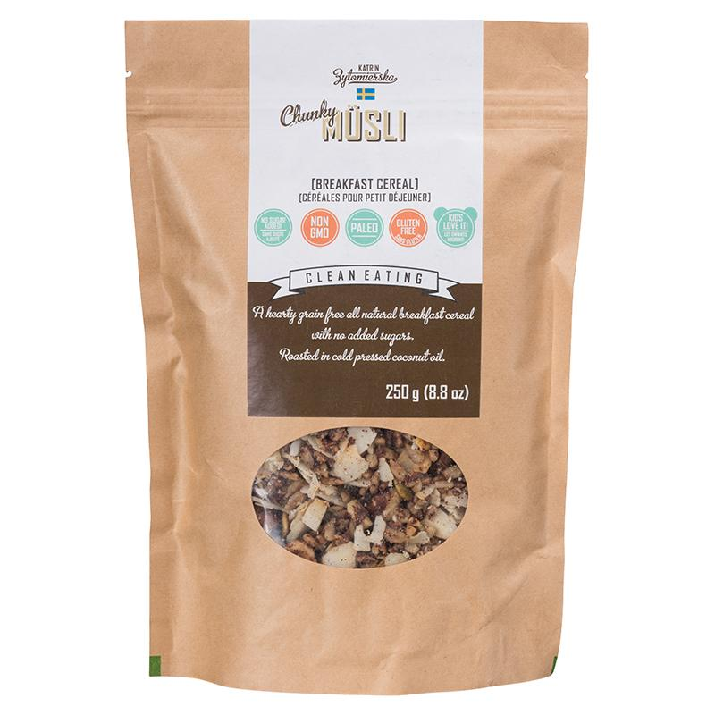 Food & Drink - KZ Clean Eating - Paleo-Friendly Chunky Musli, 250g