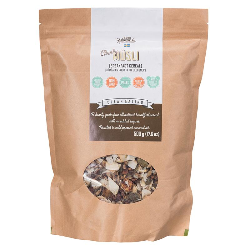 Food & Drink - KZ Clean Eating - Paleo-Friendly Chunky Musli, 500g