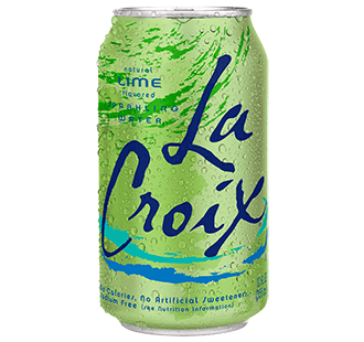 Food & Drink - LaCroix - Sparkling Water Lime, 355ml