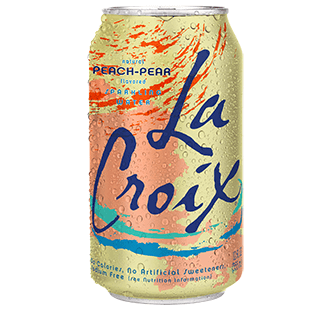 Food & Drink - LaCroix - Sparkling Water Peach Pear, 355ml
