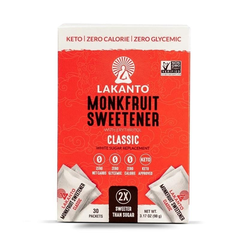 Food & Drink - Lakanto - Monkfruit Sweetener, Classic, 30 X 3g Sachet