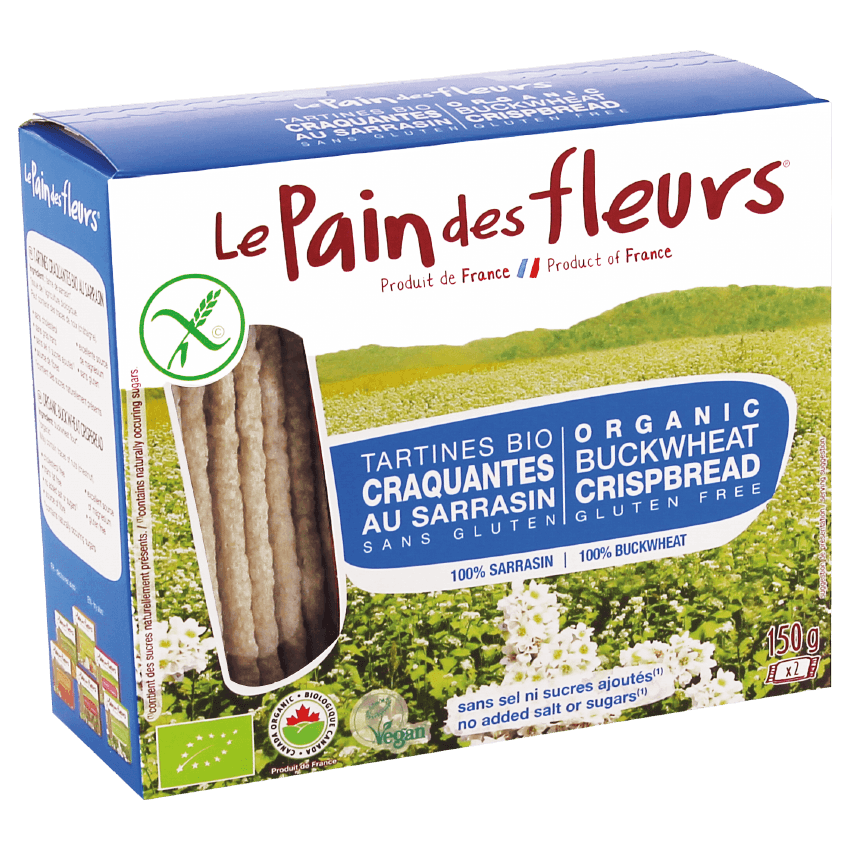 Food & Drink - Le Pain Des Fleurs - Organic Buckwheat Crispbread (without Salt And Added Sugars), 150g