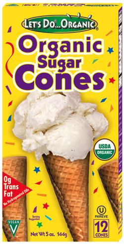 Food & Drink - Let's Do... Organic - Organic Sugar Cones - 144g