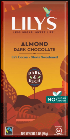 Food & Drink - Lily's Sweets - Almond Dark Chocolate, 85g