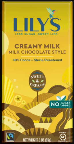 Food & Drink - Lily's Sweets - Creamy Milk (milk Chocolate Style), 85g