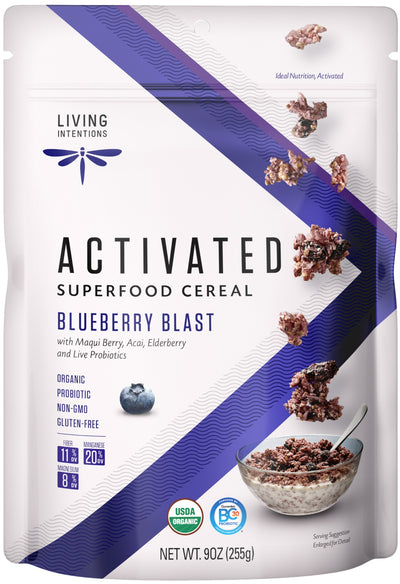 Food & Drink - Living Intentions - Superfood Cereal - Blueberry - 225 G
