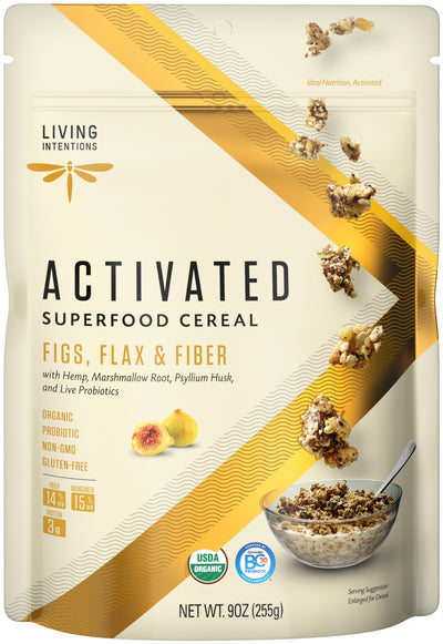 Food & Drink - Living Intentions - Superfood Cereal - Figs, Flax - 225g
