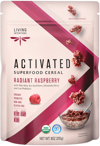 Food & Drink - Living Intentions - Superfood Cereal - Raspberry - 225g
