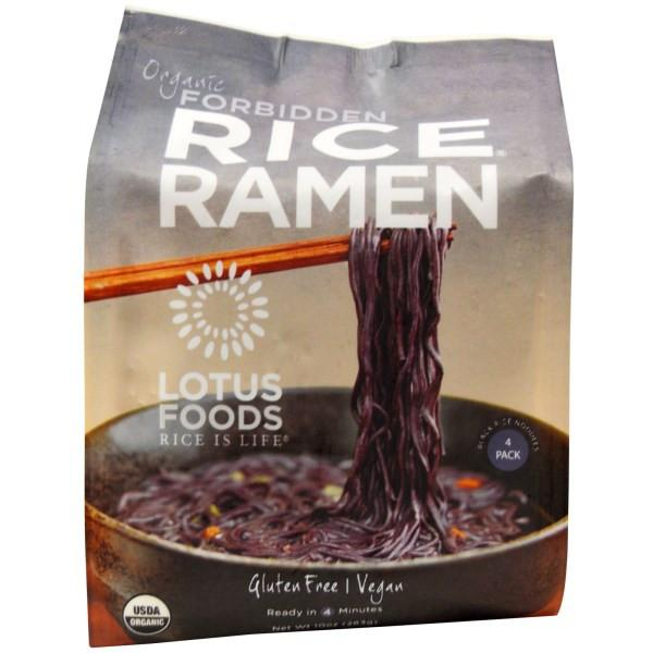 Food & Drink - Lotus Rice - Forbidden Rice® Ramen - Black Rice 4 Pack,  283g