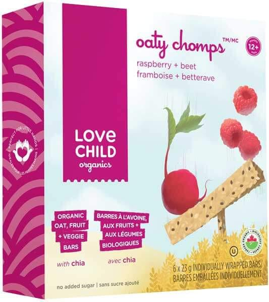 Food & Drink - Love Child - Oaty Chomps Raspberry & Beet, 6 X 23g