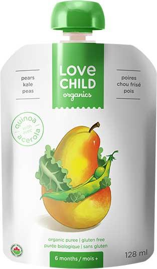 Food & Drink - Love Child - Super Blends- Pears, Kale And Peas - 128mL