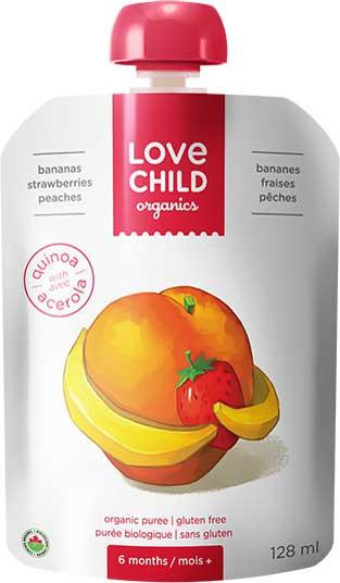 Food & Drink - Love Child - Super Blends - Strawberry, Peaches And Bananas - 128mL