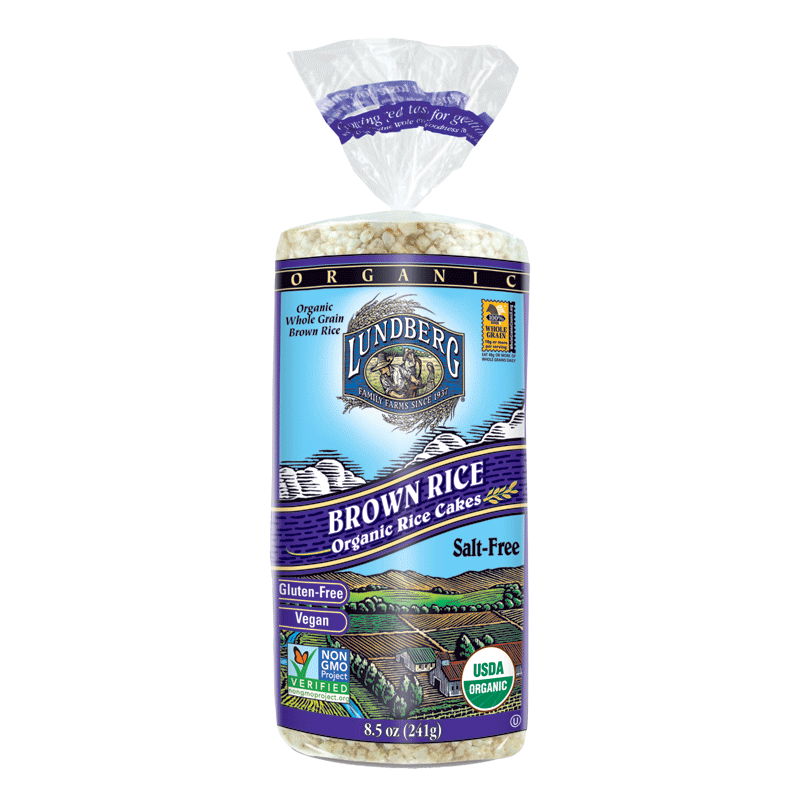 Food & Drink - Lundberg Family Farms - Brown Rice Cakes - Salt Free, 241g