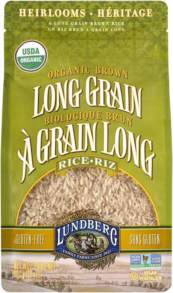 Food & Drink - Lundberg Family Farms - Organic Long Grain Brown Rice, 907g