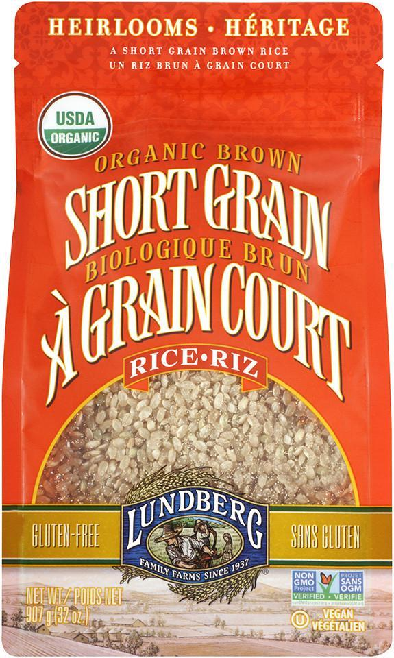 Food & Drink - Lundberg Family Farms - Organic Short Grain Brown Rice, 907g