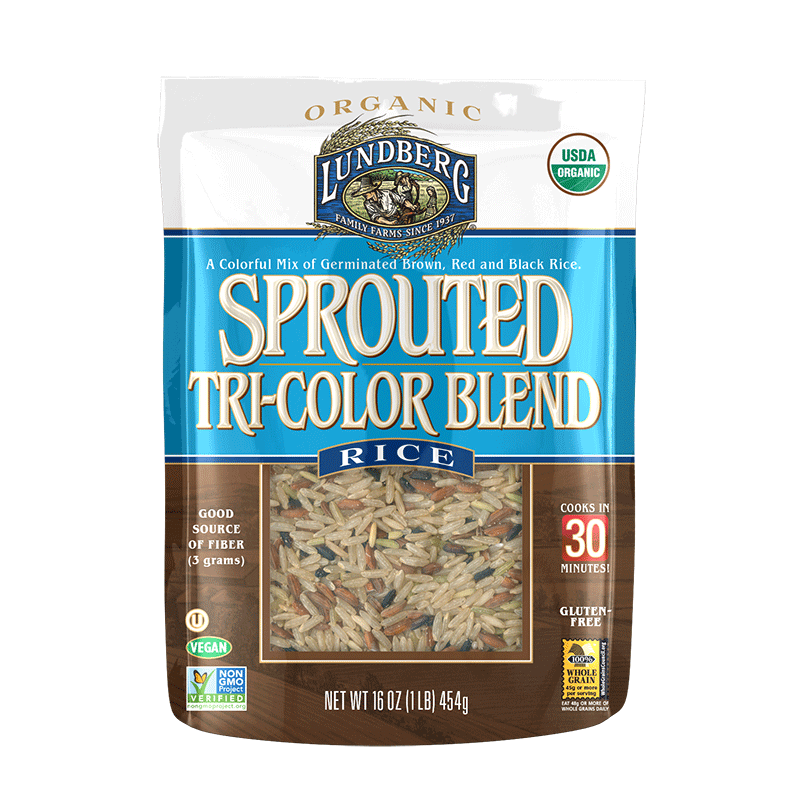 Food & Drink - Lundberg Family Farms - Organic Sprouted Tri Color Rice, 454g