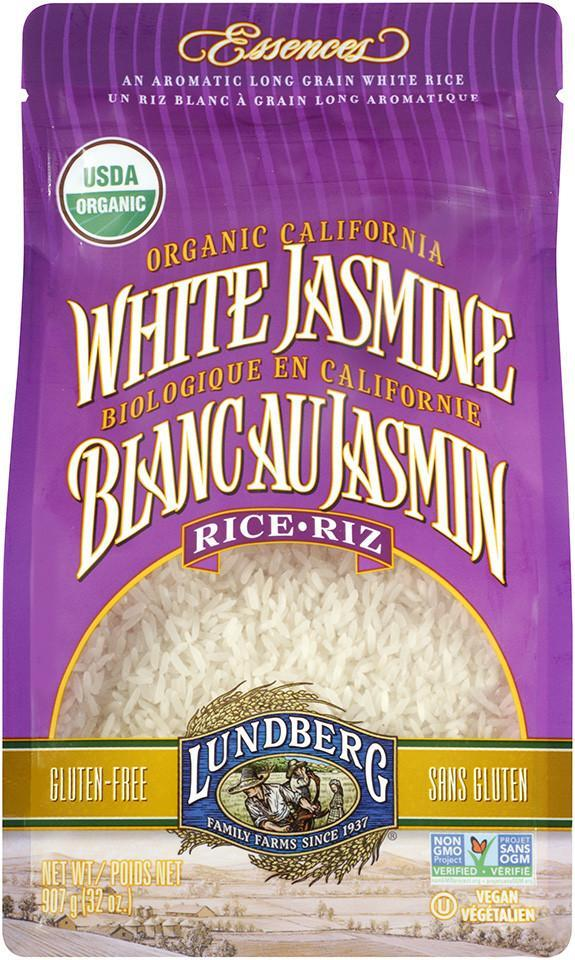 Food & Drink - Lundberg Family Farms - Organic White Jasmine Rice, 907g