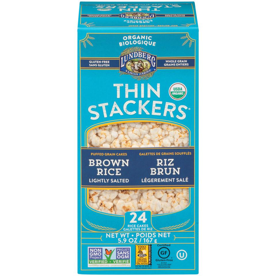 Food & Drink - Lundberg Family Farms - Thinstackers - Lightly Salted - 167g