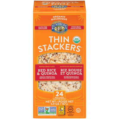Food & Drink - Lundberg Family Farms - Thinstackers - Red Rice & Quinoa -167g