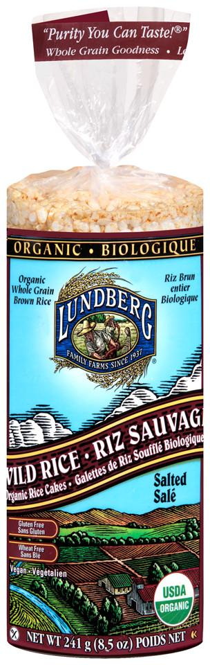 Food & Drink - Lundberg Family Farms - Wild Rice Cakes - Salted, 241g