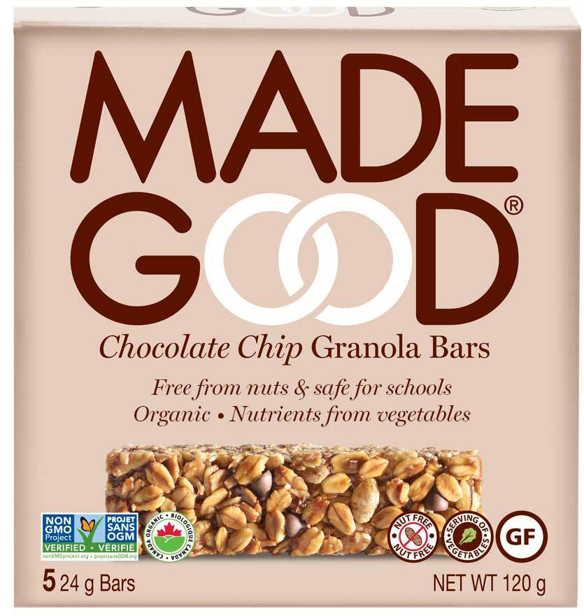 Food & Drink - Made Good - Chocolate Chip Granola Bars- 5x24g