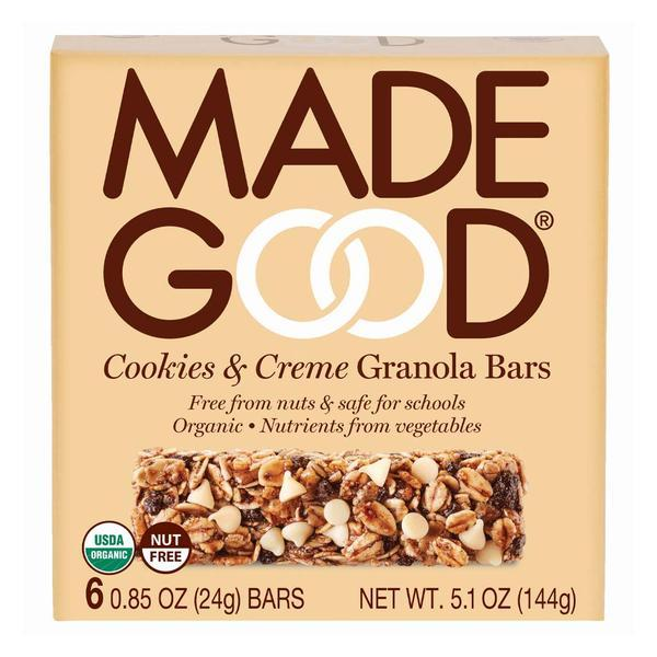 Food & Drink - Made Good - Cookies & Creme Granola Bar, 5x24g