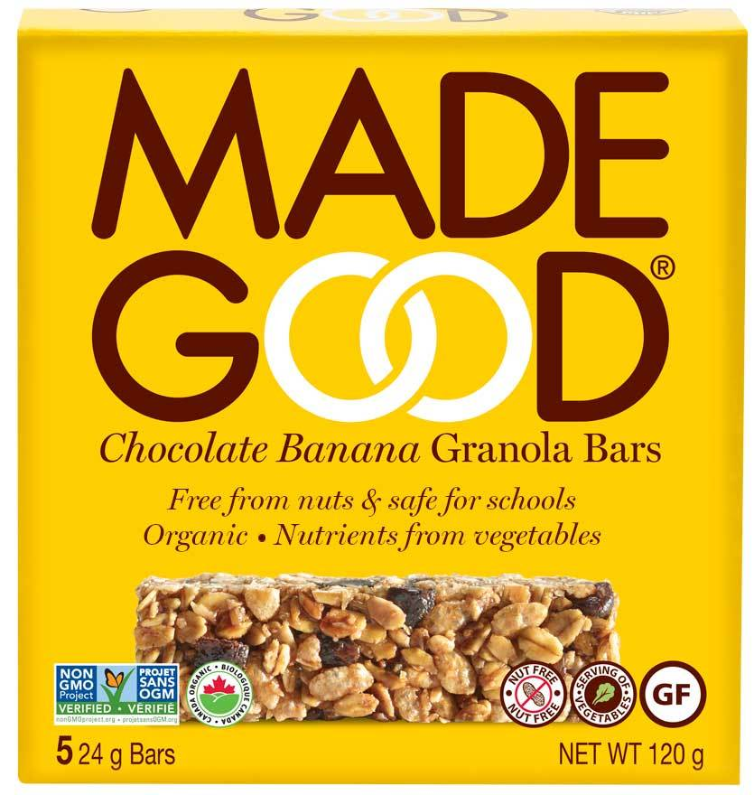 Food & Drink - Made Good - Granola Bar - Chocolate Banana, 5X24G