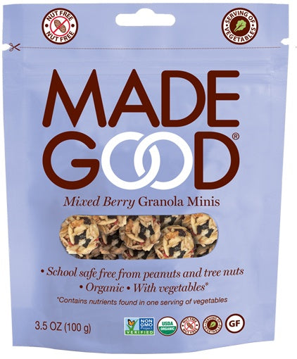 Food & Drink - Made Good - Granola Mini Pillow Mix Berry, 100g