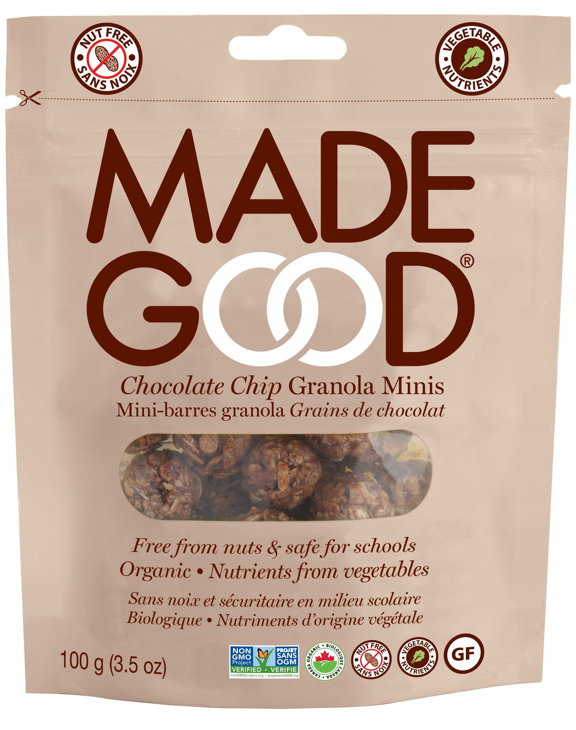 Food & Drink - Made Good - Granola Mini Pouch Choc Chip - 100 G