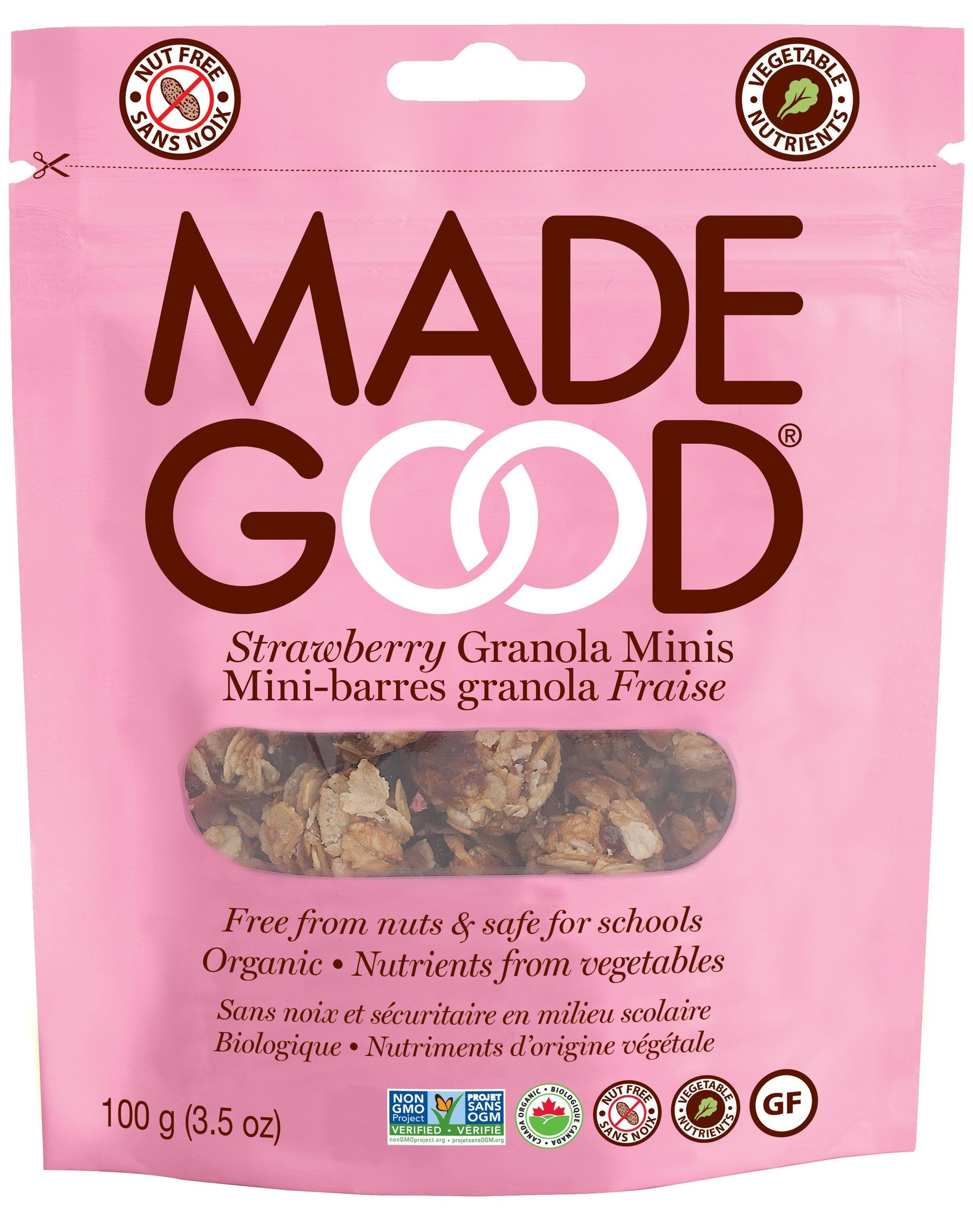 Food & Drink - Made Good - Granola Mini Pouch - Strawberry - 100g