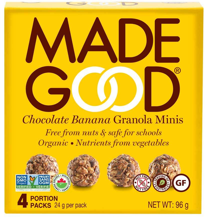 Food & Drink - Made Good - Granola Minis - Chocolate Banana - 4x24g